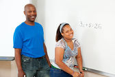 STEM Education - African-American — Stock Photo