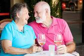 Senior Couple - Wine and Romance — Stock Photo