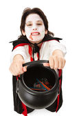 Vampire Trick or Treating on Halloween — Stock Photo
