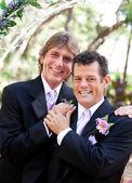 Düğün gününde yakışıklı gay çift — Stok fotoğraf