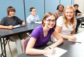 Six School Kids in Class — Stock Photo
