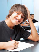 Smiling School Boy — Stock Photo
