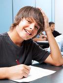 Smiling School Boy — Stock Photo