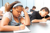 Diverse Students - Objective Testing — Stock Photo