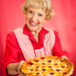 Grandmas Homemade Cherry Pie - Stock Photo