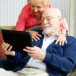 Senior Couple with Tablet PC — Stock Photo