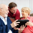 Tablet PC Gift for Parents — Stock Photo