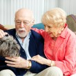 Stock Photo: Senior Couple - Dog Lovers