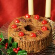 Christmas Fruitcake Still Life - Stock Photo