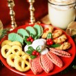 Platter of Christmas Cookies — Stock Photo