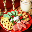 Platter of Christmas Cookies - Stock Photo
