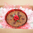 Mail Order Christmas Fruitcake - Stock Photo