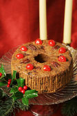 Christmas Fruitcake Still Life — Stock Photo