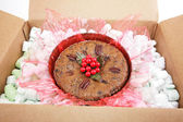 Mail Order Christmas Fruitcake — Stock Photo