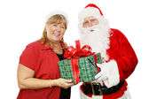 Santa and His Wife — Stock Photo