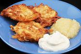 Geleneksel chanukah patates latkeler — Stok fotoğraf