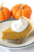 Pumpkin Pie Slice — Stock Photo