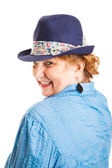 Cute Flirty Middle-Aged Woman — Stock Photo
