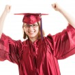 Successful Graduate Celebrates — Stock Photo