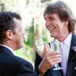 Gay Couple Toast Their Marriage - Stok fotoğraf