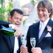 Stock Photo: Gay Couple - Champagne Splash