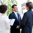 Gay Wedding - Female Minister — Stock Photo