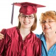 Graduate with Proud Mother — Stock Photo