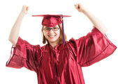 Successful Graduate Celebrates — Stock Photo