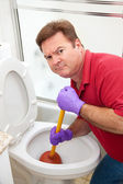 Unpleasant Plumbing Job — Stock Photo
