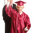 Senior Woman at Her Graduation Ceremony - Stock Photo