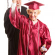 Senior Woman at Her Graduation Ceremony — Stock Photo