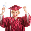 Royalty-Free Stock Photo: Senior Woman Excited to Graduate