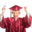 Senior Woman Excited to Graduate — Stock Photo