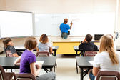 Male Teacher with Algebra Class — Stock Photo