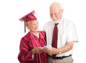 Proud Senior Graduate with Supportive Spouse — Stock Photo