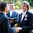 Gay Couple Exchanges Wedding Vows — Stock Photo