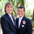 Stock Photo: Handsome Gay Wedding Couple