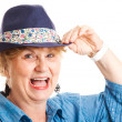 Middle-aged Woman - Happy Laughing — Stock Photo