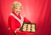 Grandmas Homemade Chocolate Chip Cookies — Stock Photo
