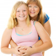 Beautiful Blond Mother and Teenage Daughter — Stock Photo
