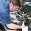 Auto Mechainc - Engine Work - Stock Photo