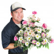 Flower Delivery for Mothers Day — Stock Photo