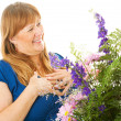 The Gift of Flowers — Stock Photo
