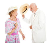 Southern Chivalry - Senior Couple — Stock Photo