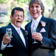 Gay Wedding - Champagne and Laughter — Stock Photo