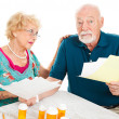 Senior Couple Distressed by Medical Bills — Stock Photo