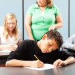 Young Boy Taking Test — Foto Stock