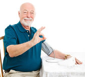 Senior Man - Blood Pressure is A-Okay — Stok fotoğraf