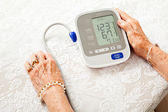 Senior Woman With Low Blood Pressure — Stock Photo