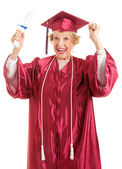 Senior Graduate - Thrill of Achievement — Stock Photo